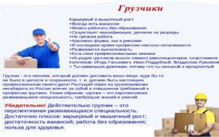 Должностные обязанности грузчика