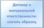 Договор об ограниченной материальной ответственности: образец