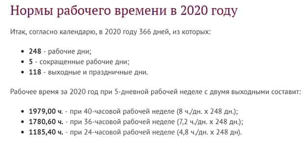 Норма часов в феврале 2020