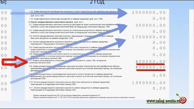 Налоговый вычет за предыдущие годы