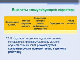 Стимулирующие выплаты по ТК РФ – в бюджетных и внебюджетных организациях