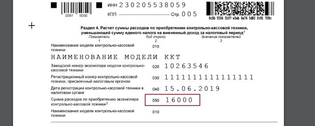 Налоговый вычет за онлайн-кассу ЕНВД